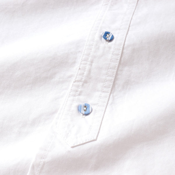 (ST981) Covered Button Shirt