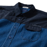 (ST984) Denim Two Tone Shirt