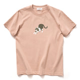 (ZT118) Stretching Cat Heavyweight Tee