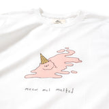 (ZT218) Melted Meow Graphic Tee