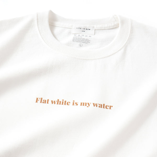 (ZT329) Flat White Message Heavyweight Tee