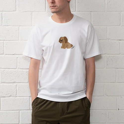 Poodle Graphic Print Tee (ZT896)