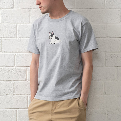 French Bulldog Graphic Print Tee (ZT898)