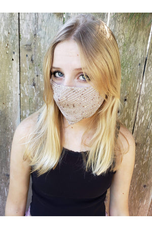 Fashion Bling Face Mask + Filters Blush Pink-Health & Wellness-Three Wild Horses-Sheridanboutique