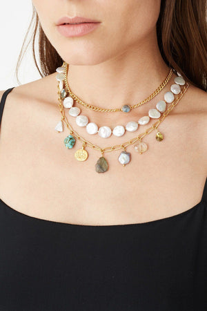 Chan Luu White Pearl Mix Pre-Layered Necklace-Jewelry-Chan Luu-Sheridanboutique