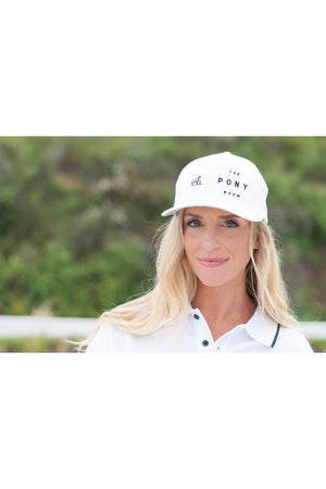 Rancho Valencia Resort Pony Room Logo Baseball Cap White-Hat-Sheridanboutique-S/M-Sheridanboutique