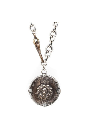 Lion Coin Necklace by Shannon Koszyk-Jewelry-Shannon Koszyk-Sheridanboutique
