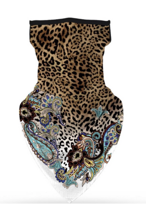 Leopard Chic Face Mask + Gaiter Scarf With Filters-Health & Wellness-Sheridan-Sheridanboutique