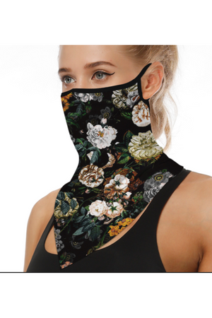 Vintage Floral Face Mask + Gaiter Scarf With Filters (PREORDER)-Health & Wellness-Sheridan-Sheridanboutique