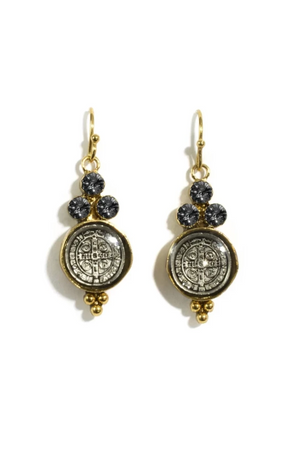 VSA Designs Lucia Earrings Black Diamond-Jewelry-Virgins Saints & Angels-Sheridanboutique