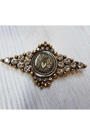 VSA Designs Fay Winged Brooch Pin Gold-Jewelry-Virgins Saints & Angels-Sheridanboutique