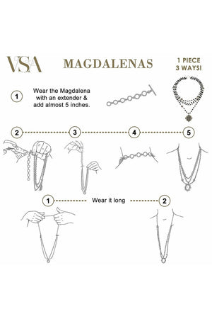 VSA Designs Magdalena Extender Silver-Jewelry-Virgins Saints & Angels-Sheridanboutique