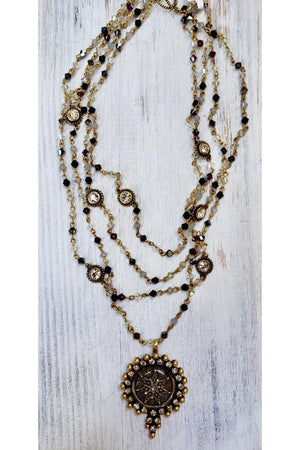 VSA Designs Gold Multi-crystal Fay Fairy Star Necklace-Jewelry-Virgins Saints & Angels-Sheridanboutique