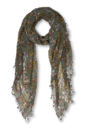 Chan Luu Olivine Vintage Floral Print Cashmere And Silk Scarf-Accessories-Chan Luu-Sheridanboutique