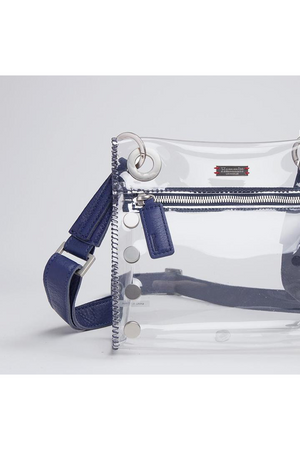 Hammitt Tony Small Clear Indigo/Brushed Silver-Handbag-Hammitt-Sheridanboutique