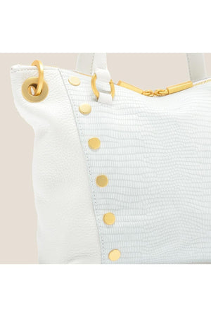 Hammitt Daniel Med in Ceramic White/Brushed Gold-Handbag-Hammitt-Sheridanboutique