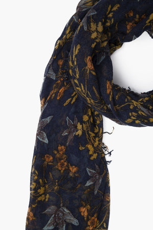Chan Luu Outer Space Vintage Floral Print Cashmere And Silk Scarf-Accessories-Chan Luu-Sheridanboutique