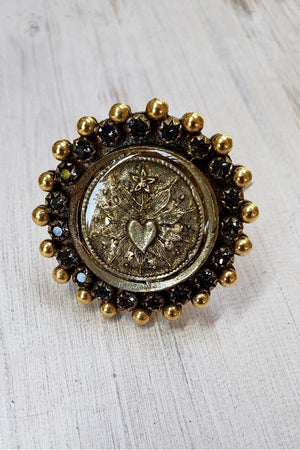 VSA Designs Ring Sacred Heart Fay size 7.5-Jewelry-Virgins Saints & Angels-Sheridanboutique