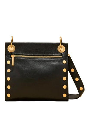 Hammitt Medium Tony Black/Brushed Gold-Handbag-Hammitt-Sheridanboutique
