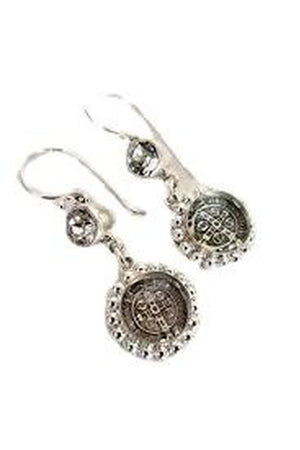 VSA Designs San Benito Magdalena Earrings + Silver Clear-Jewelry-Virgins Saints & Angels-Sheridanboutique