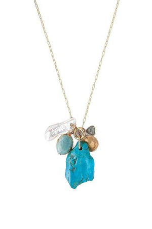 Chan Luu Turquoise Mix Charm Necklace-Jewelry-Chan Luu-Sheridanboutique