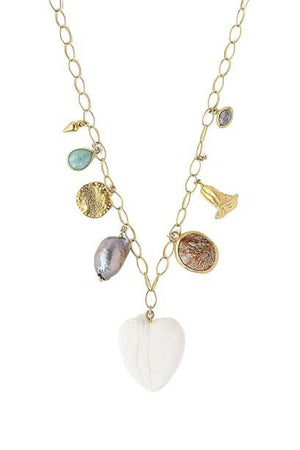 Chan Luu White Bone Mix Charm Necklace-Jewelry-Chan Luu-Sheridanboutique