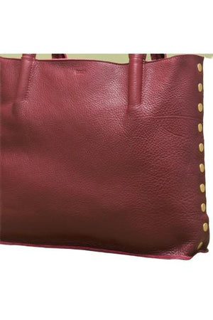 Hammitt Oliver Zip Tote in Crimson/Brushed Gold-Handbag-Hammitt-Sheridanboutique