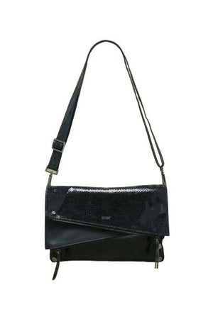 Hammitt Black Diamond/Gunmetal Dillon Handbag-Fairen Del-Sheridanboutique