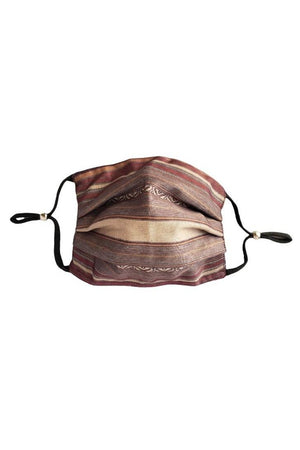 Lauren Striped Fancy Pleated Face Mask with Filters + Carry Pouch-Health & Wellness-Three Wild Horses-Sheridanboutique