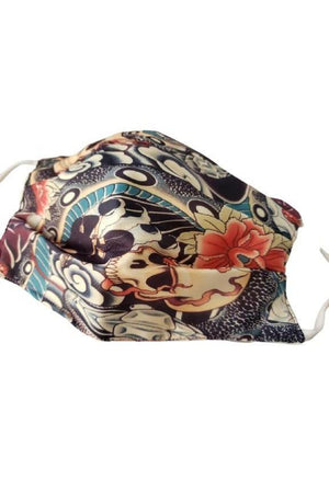 Geisha Fantasy Fancy Pleated Face Mask with Filters + Carry Pouch-Health & Wellness-Three Wild Horses-Sheridanboutique
