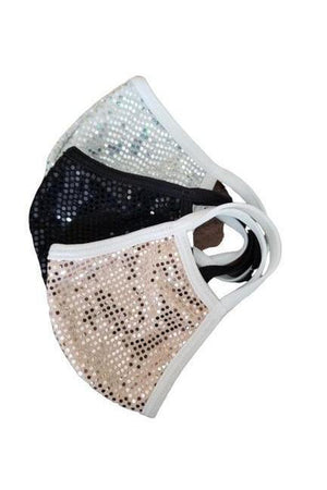 Set of three Fashion Sparkly Face Masks-Health & Wellness-Madison Private Label-Sheridanboutique