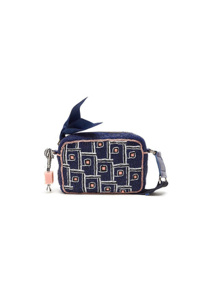 Dim Gray Maliparmi  Beaded Rooftops Cross Body Handbag