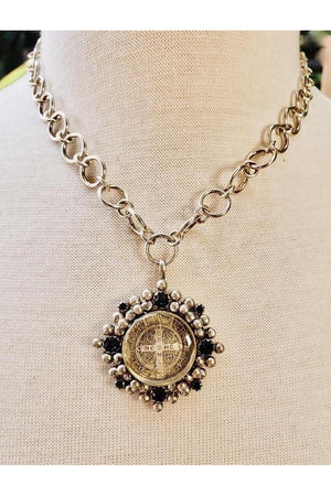 VSA Designs Necklace San Benito Betty Chain in Silver-Jewelry-Virgins Saints & Angels-Sheridanboutique