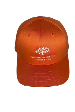 Chocolate Rancho Valencia Resort Logo Baseball Cap Orange