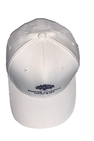 Light Gray Rancho Valencia Resort Logo Baseball Cap White