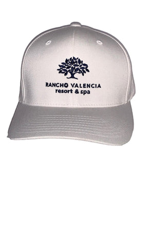 Misty Rose Rancho Valencia Resort Logo Baseball Cap White