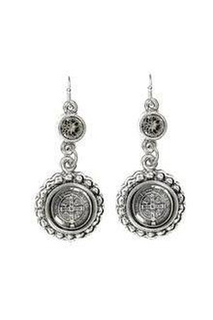 VSA Designs San Benito Magdalena Earrings + Silver Night-Jewelry-Virgins Saints & Angels-Sheridanboutique