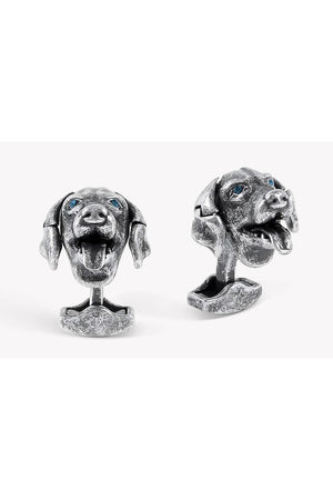 Tateossian Mechanical Labrador Dog Cufflinks-Accessories-Tateosssian-Sheridanboutique