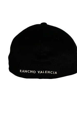 Black Rancho Valencia Resort Pony Room Logo Baseball Cap Black