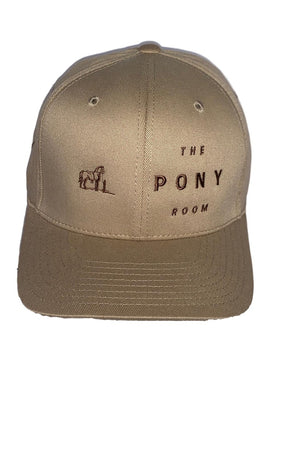 Rosy Brown Rancho Valencia Resort Pony Room Logo Baseball Cap Tan