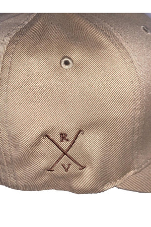 Tan Rancho Valencia Resort Pony Room Logo Baseball Cap Tan