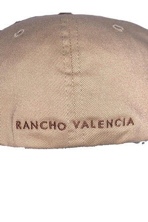 Rancho Valencia Resort Pony Room Logo Baseball Cap Tan-Hat-Sheridanboutique-S/M-Sheridanboutique
