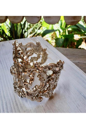 VSA Designs Archangel San Miguel Cuff Bracelet Silver-Jewelry-Virgins Saints & Angels-Sheridanboutique