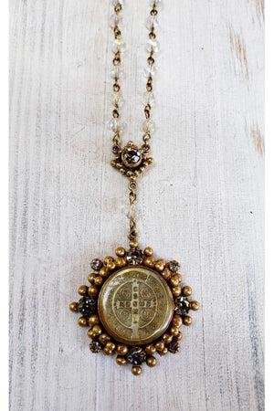 VSA Designs Lux San Benito Cloister Rosary Necklace-Jewelry-Virgins Saints & Angels-Sheridanboutique