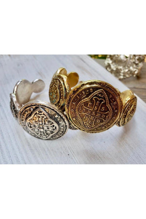 VSA Designs Del Oro Cuff Bracelet Silver-Jewelry-Virgins Saints & Angels-Sheridanboutique