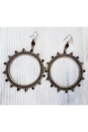 VSA Designs Silver Esther Hoop Earrings-Jewelry-Virgins Saints & Angels-Sheridanboutique