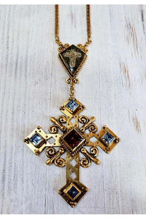 VSA Designs Paloma Cross Necklace-Jewelry-Virgins Saints & Angels-Sheridanboutique