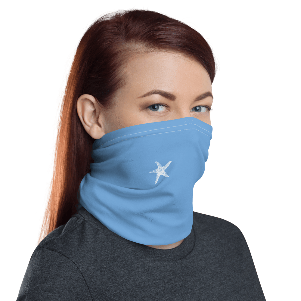 SaltWater Brewery Baby Blue Starfish Neck gaiter