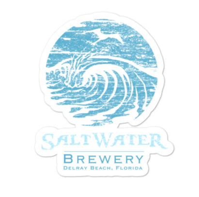 SaltWater Brewery Blue Logo Sticker
