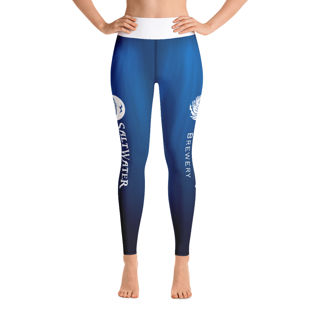 SaltWater Brewery Blue Yoga Leggings